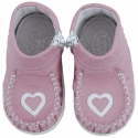 Pink with heart baby shoes Classic+