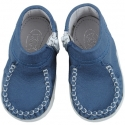 Mėlyni pirmieji kūdikio batai 16-20 dydžio