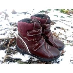 Bordo žieminiai batai su lipukais 26-30 dydžio