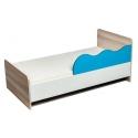 Vaikiška lova su mėlyna apsauga
