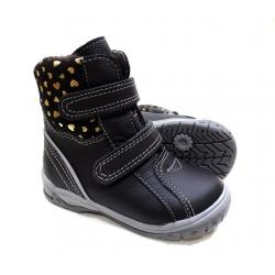 Juodi žieminiai batai su vilna