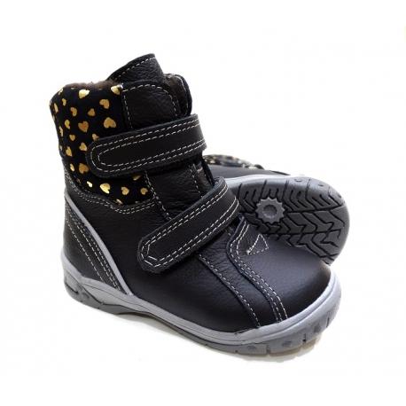 odiniai žieminiai batai su vilna vaikams 21-26 dydžio
