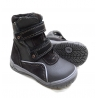 Pilki odiniai žieminiai batai su vilna 21-26 d.
