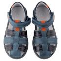 Mėlynos odinės basutės berniukams 31-36 EU