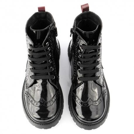Juodi odiniai lakiniai batai - kerzai