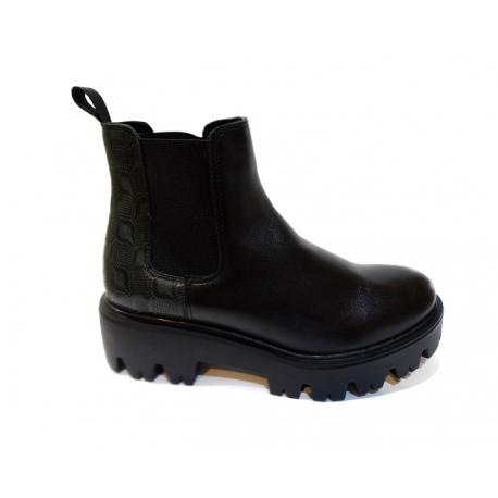 Storapadžiai batai - juodi  batai su platforma SABALIN  | rudeniniai batai su platforma