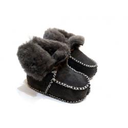 Žieminiai batukai su kailiu kudikiui pilkos spalvos