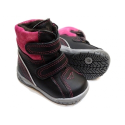 Juodi mergaitiški žieminiai batai 21-26 dydžio