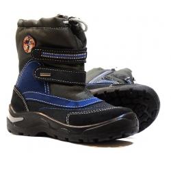 Melton black leather waterproof winter boots