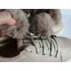 Odiniai batai mergaitėms su kailiuku MELTON 31-38 d.