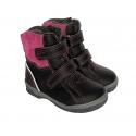 Juodi mergaitiški žieminiai batai PIRMI BATAI 21-26 dydžio