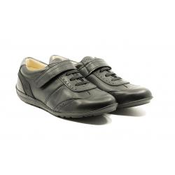 Juodi odiniai batai berniukams JACADI