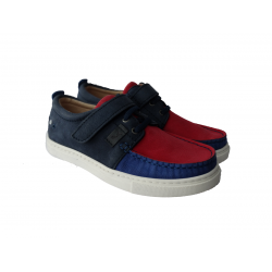 Mėlyni odiniai batai berniukui JACADI 34 dydis