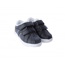 Black leather school shoes for boy's 27-40 EU size